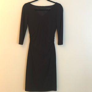 David Meister 3/4 sleeve black dress